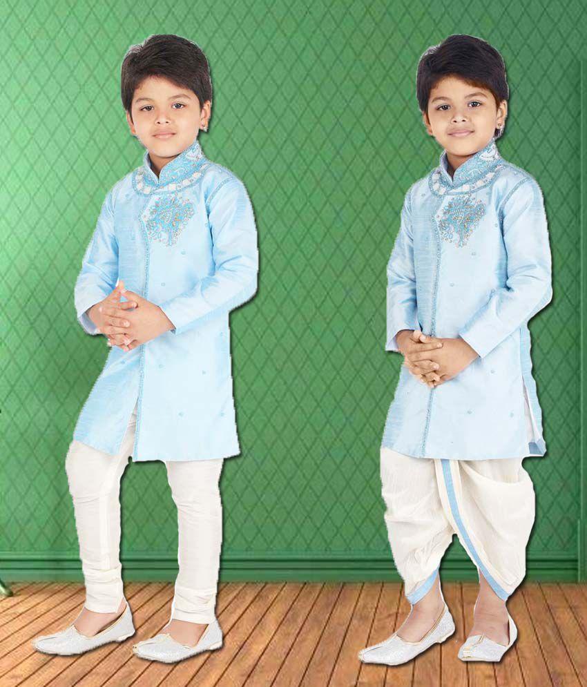 f2b845668c Ahhaaaa Kids Ethnic Wear Kurta, Pyjama and Dhoti Pant Set for Boys - Buy  Ahhaaaa Kids Ethnic Wear Kurta, Pyjama and Dhoti Pant Set for Boys Online at  Low ...