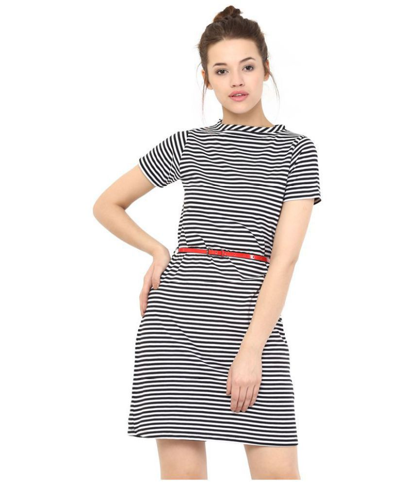 9cee99779594 Miss Chase Cotton Black Shift Dress - Buy Miss Chase Cotton Black Shift Dress  Online at Best Prices in India on Snapdeal