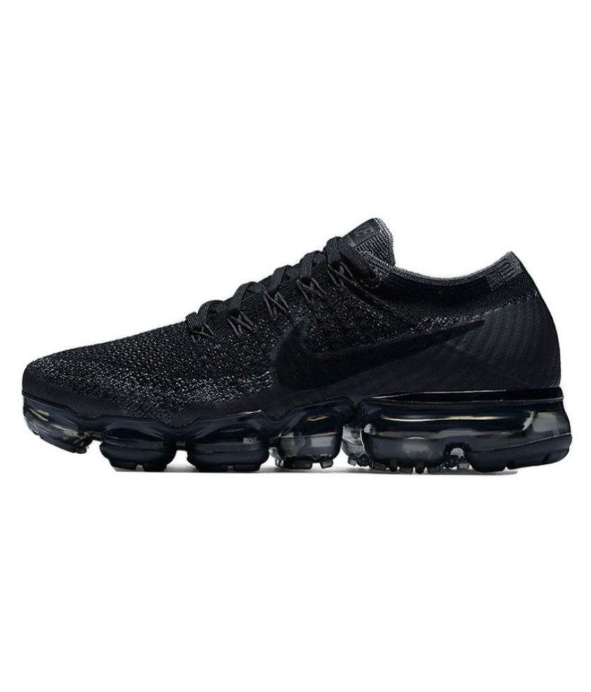 41153874ba Zoom Zoom Air Air Vapormax Flyknit Men's Black Running Shoes - Buy ...