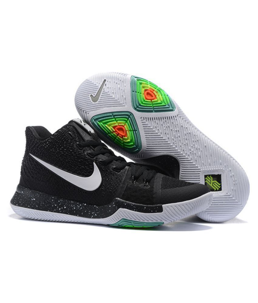 uk availability e143b bedb7 Nike Kyrie 3 EP Black Basketball Shoes - Buy Nike Kyrie 3 EP Black  Basketball Shoes Online at Best Prices in India on Snapdeal