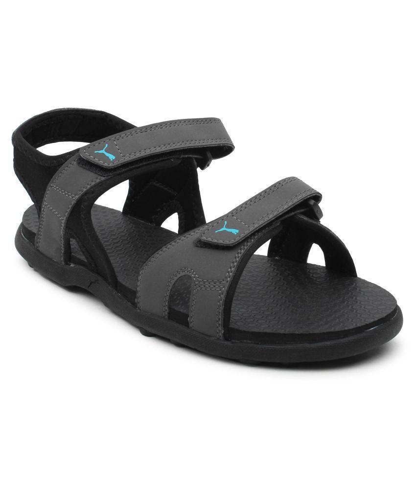 Puma Men Starry MU IDP Black Faux Leather Floater Sandals - Buy Puma Men  Starry MU IDP Black Faux Leather Floater Sandals Online at Best Prices in  India on ... a76221d732d4