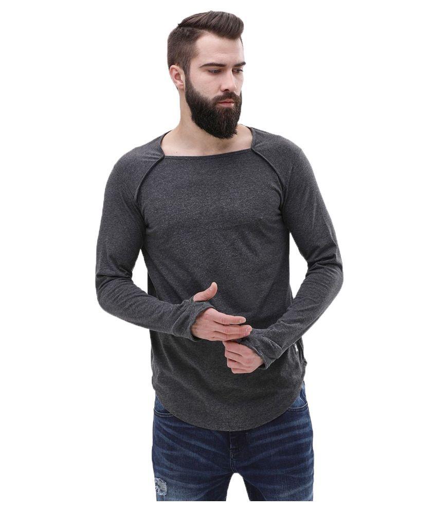 Veirdo Grey Full Sleeve T-Shirt