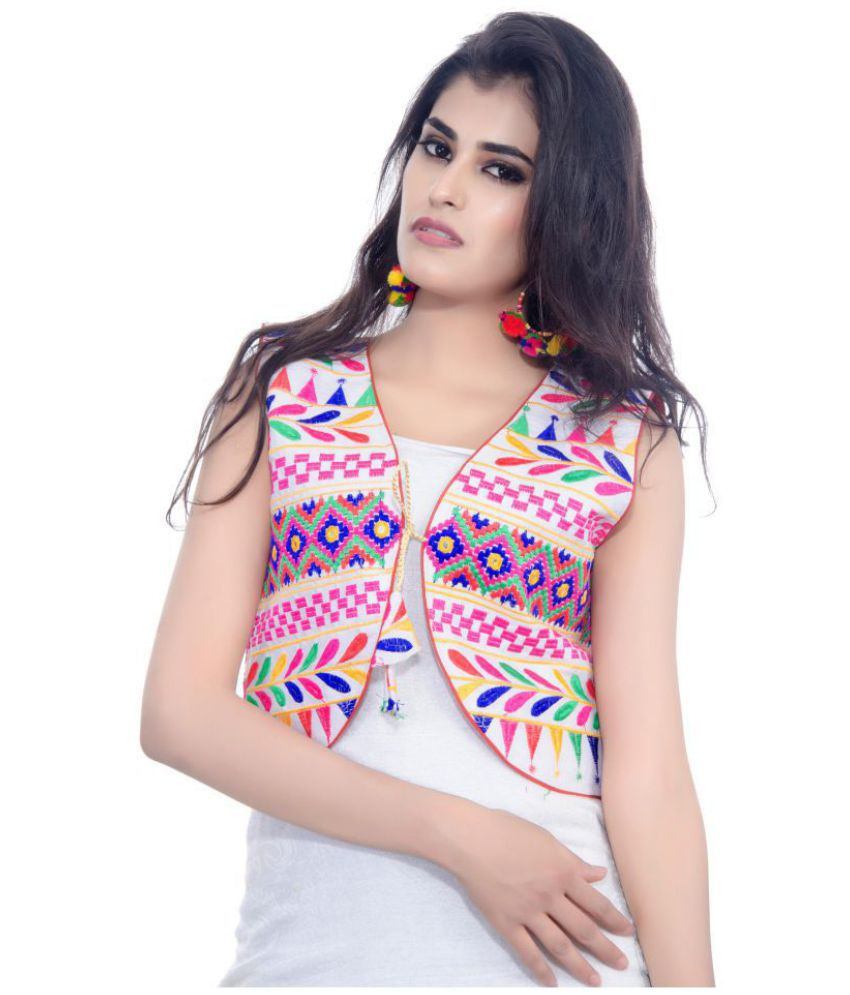 1c5c476d60e Buy Banjara India Cotton Blend White Ethnic Jacket Online at Best Prices in  India - Snapdeal