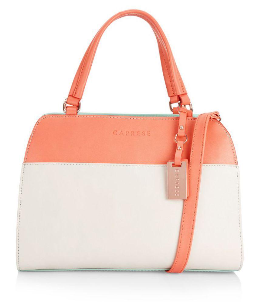 Caprese Orange Faux Leather Shoulder Bag