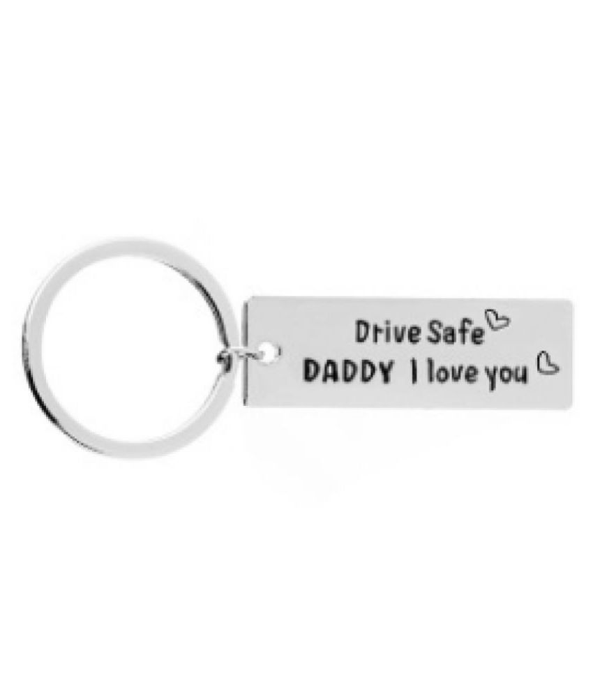 3314b70603 1pc Drive safe I need you here with me Keychain,stainless steel key chain,Gift  for Boyfriend,Girlfriend Drive Safe Keyring: Buy Online at Low Price in  India ...