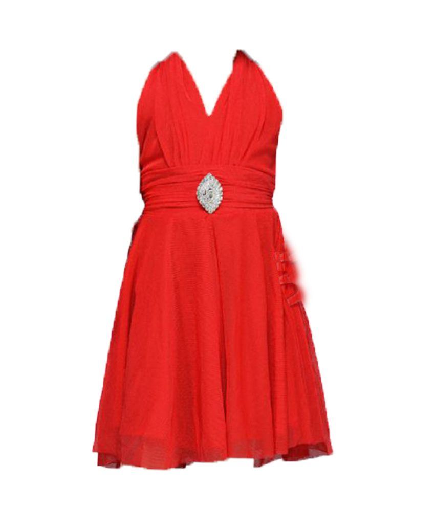 d59b7bc622bf Aarika Newborn Baby Girl dress frock Red Party Wear dress frock ...