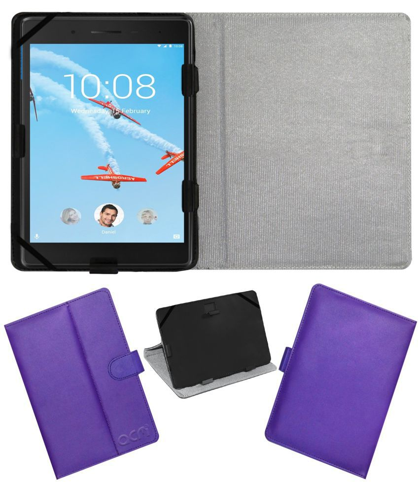 new product 9ea47 878f5 Lenovo Tab 7 Essential Flip Cover By ACM Purple