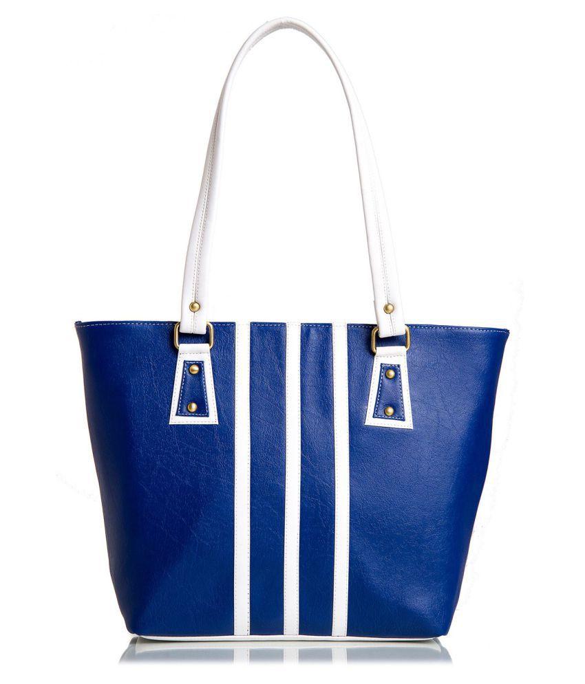 Mammon Blue Rexin Shoulder Bag