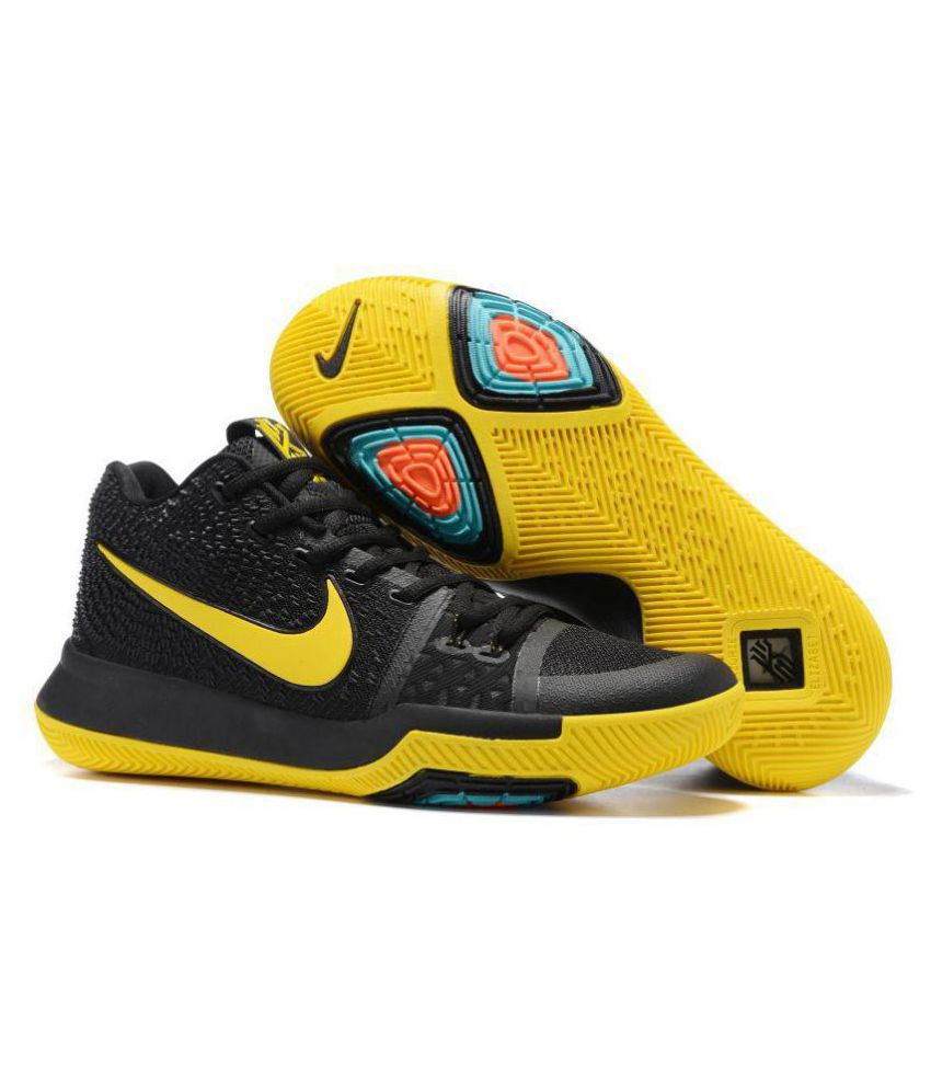 size 40 a2e6e f19ff Nike KYRIE IRVING 3 BASKETBALL SHOES Yellow Running Shoes - Buy Nike KYRIE  IRVING 3 BASKETBALL SHOES Yellow Running Shoes Online at Best Prices in  India on ...
