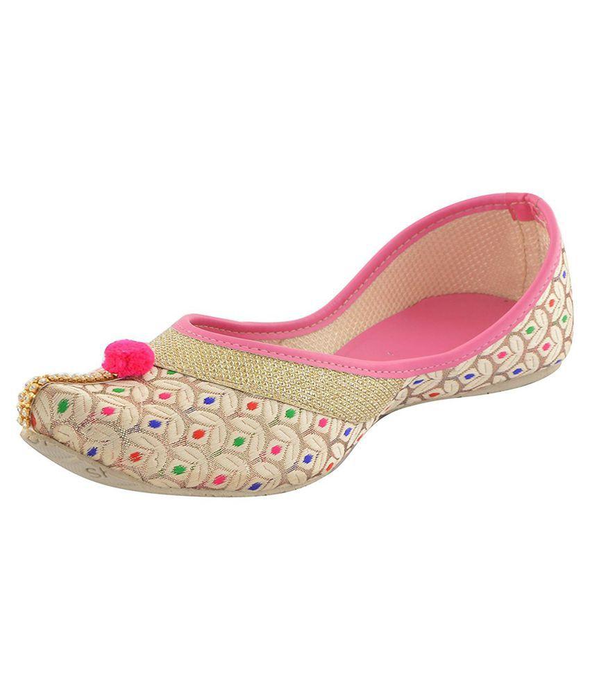 Shoe Lab Pink Ethnic Footwear