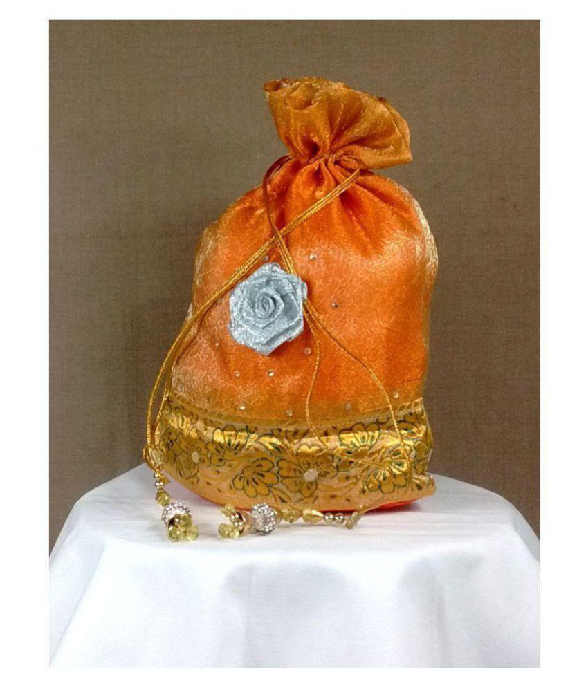 Vishal Store Orange Fabric Potli