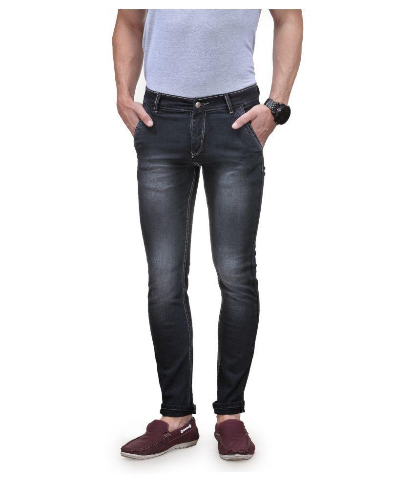 Randier Black Skinny Jeans