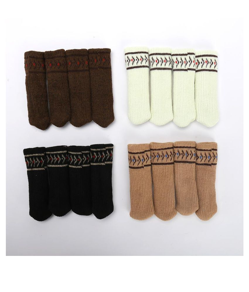 4pcs\/lot Chair Leg Socks Home Fashion Protect Floor Knit Flower Leg Sleeve Table Chair Foot Cover Sock