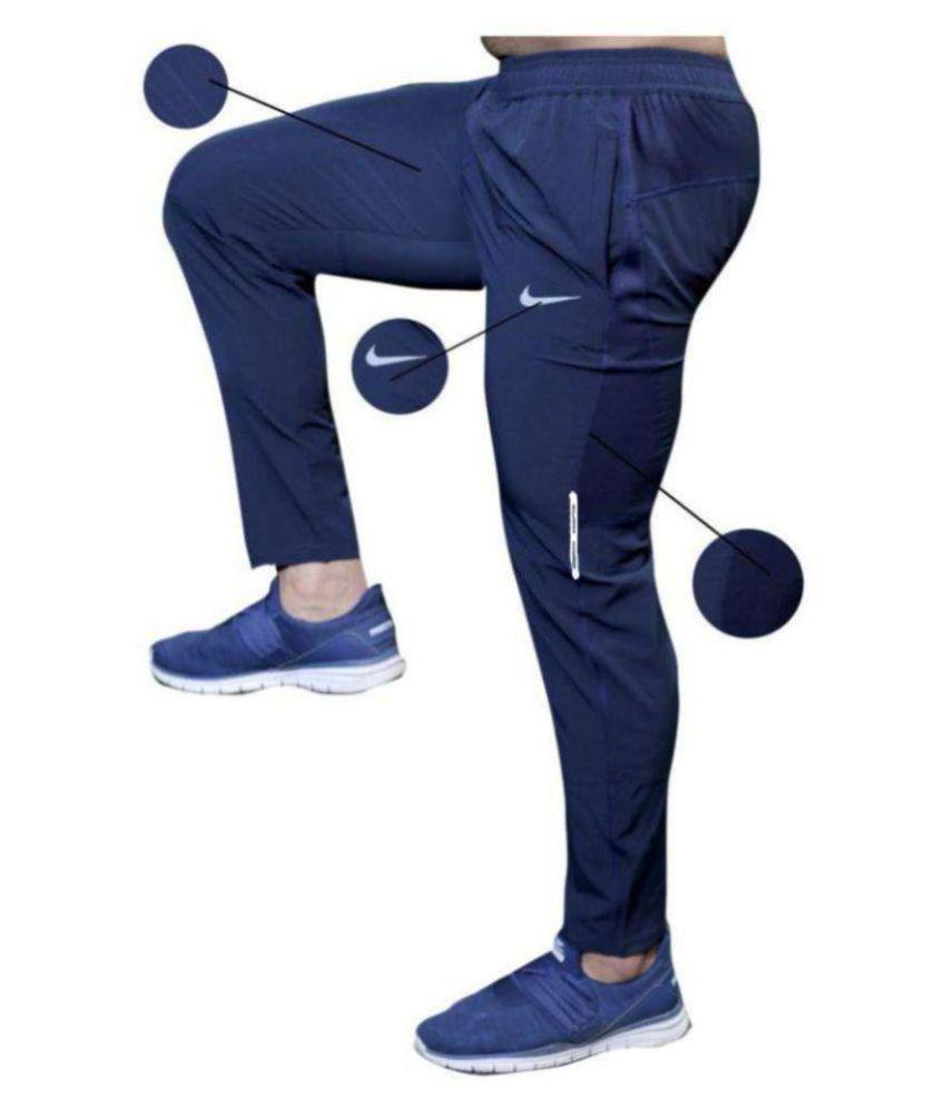 Nike Navy GL Polyester Lycra Trackpant