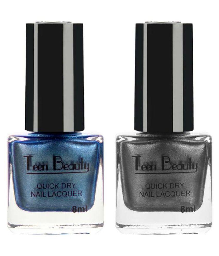 Teen Beauty Nail Polish Blue With Greyish Black Metallic 16 ml ml