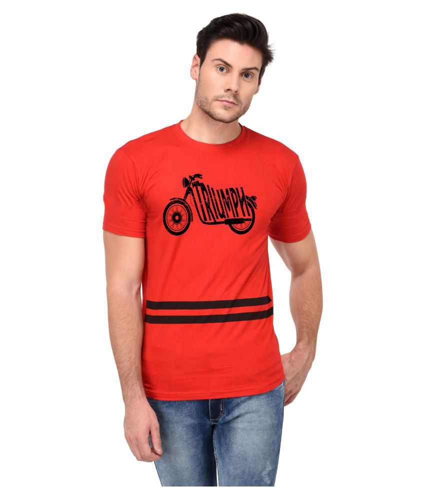 Trends Tower Red Half Sleeve T-Shirt
