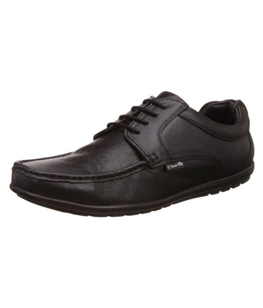 Red Chief Office Genuine Leather Black Formal Shoes Price In India