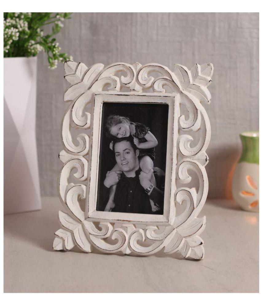 Yatha Wood White Single Photo Frame - Pack of 1