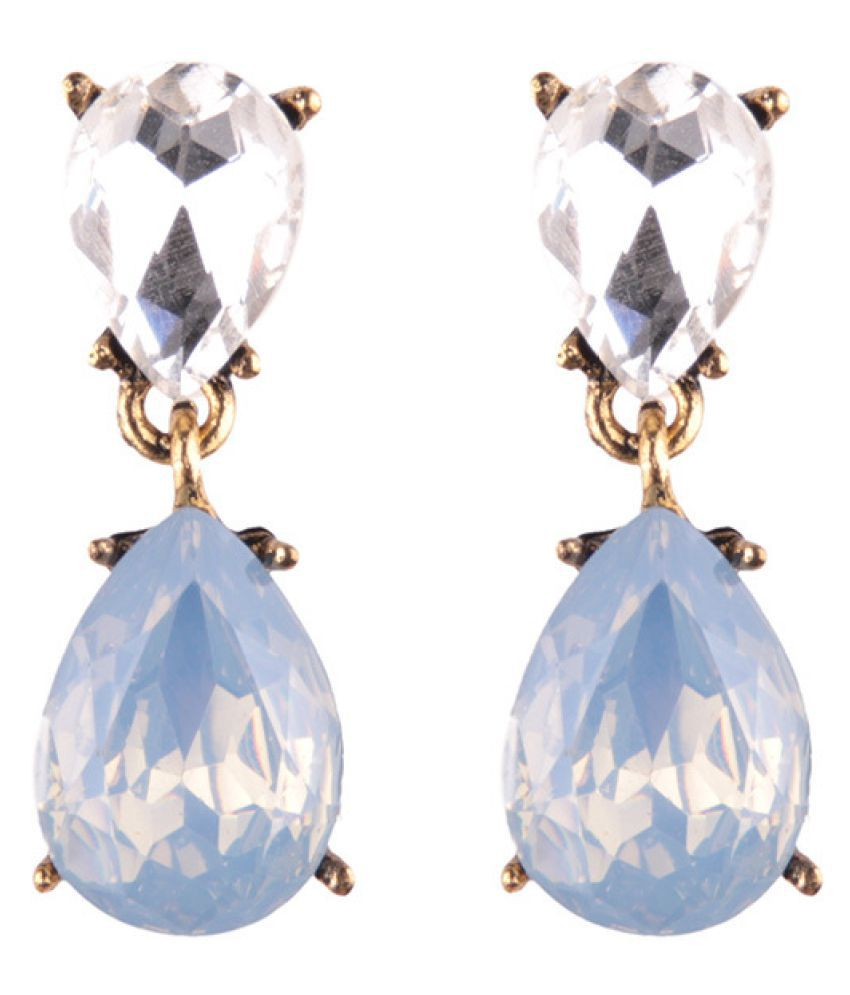 Levaso Fashion Jewelry Womens Earrings Ear Studs 1Pair Personality Gifts Blue