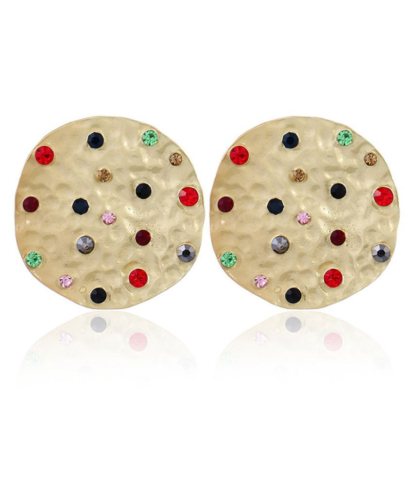 Levaso Fashion Jewelry Womens Earrings Ear Studs Alloy Geometric 1Pair Personality Gifts Golden