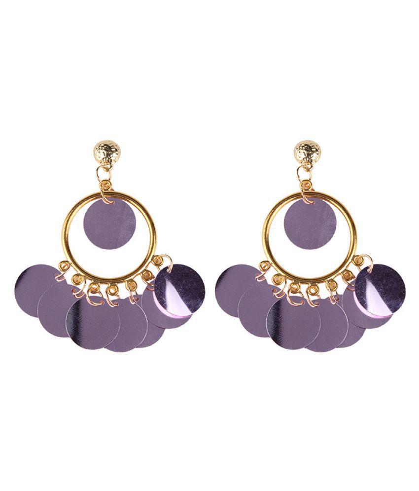 Levaso Fashion Jewelry Womens Earrings Ear Studs Necklace Pendant Alloy 1Set Personality Gifts Purple