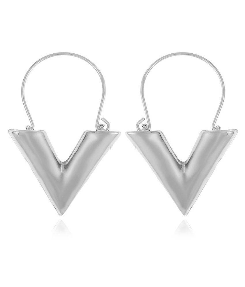 Levaso Fashion Jewelry Womens Earrings Ear Studs Alloy 1Pair Personality Gifts Silver