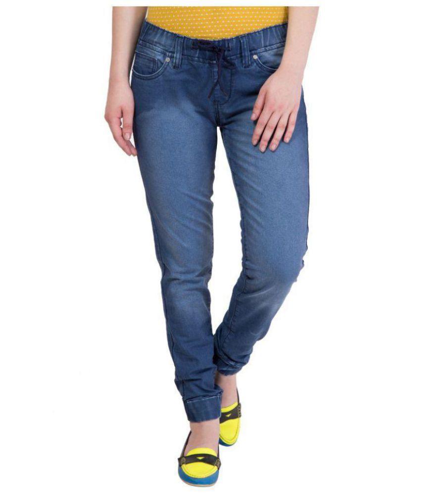 62edd905cacef0 Buy Kopyneko Denim Jeggings - Blue Online at Best Prices in India - Snapdeal