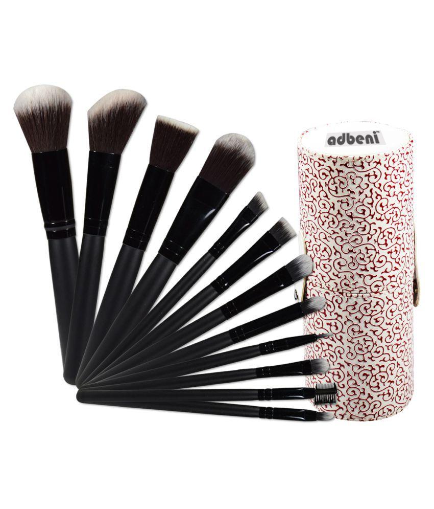 Adbeni Imported Makeup Brush Kit 12PC With Maroon Storage ...