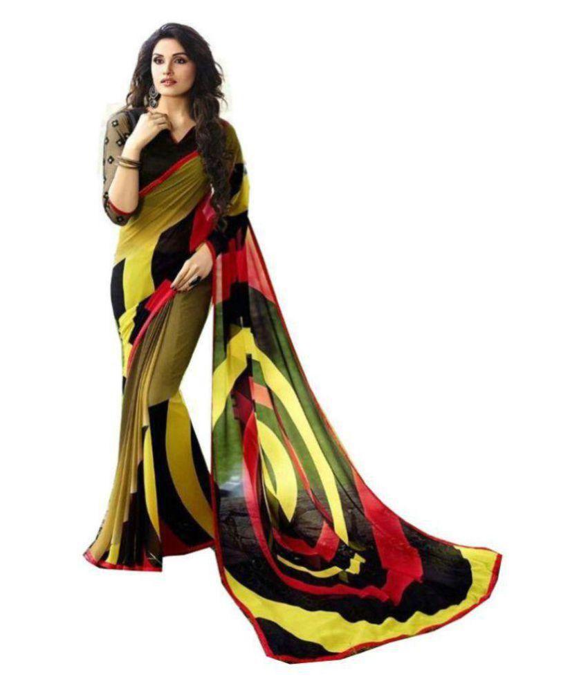 Royal Sari Multicoloured Georgette Saree