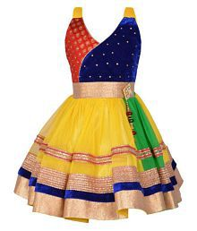 38cf29d3fd4 Quick View. AD   AV MULTICOLOR GIRLS PARTY FROCK