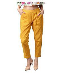 99b1b2465de809 Yellow Pants & Capris for Women: Buy Yellow Pants & Capris for Women ...