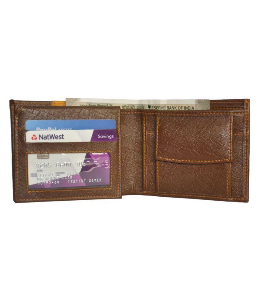 Hide&Sleek Faux Leather Multi Formal Regular Wallet