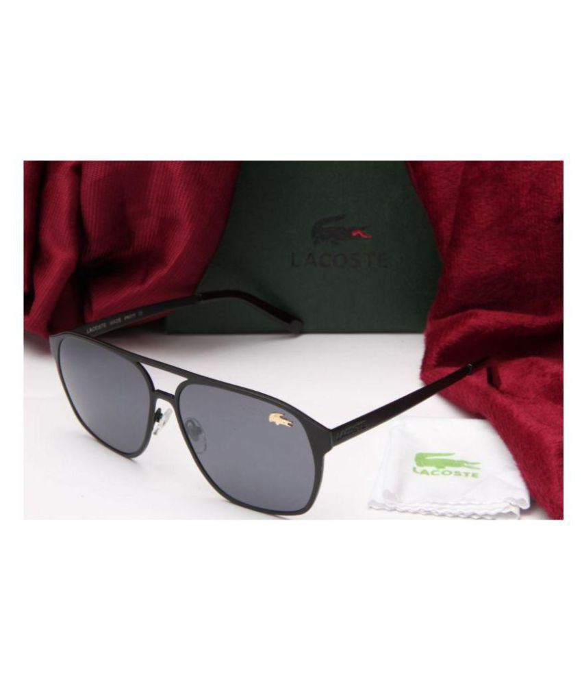 a8b9ebf557f3d LACOSTE SUNGLSS Black Aviator Sunglasses ( L134 ) - Buy LACOSTE SUNGLSS  Black Aviator Sunglasses ( L134 ) Online at Low Price - Snapdeal
