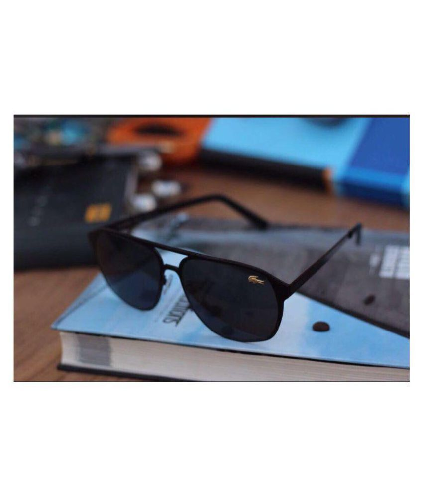 c814b3c368 LACOSTE SUNGLSS Black Aviator Sunglasses ( L134 ) - Buy LACOSTE ...