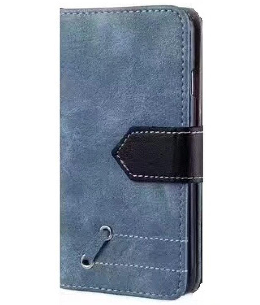 Lenovo K8 Plus Flip Cover by Duston - Blue
