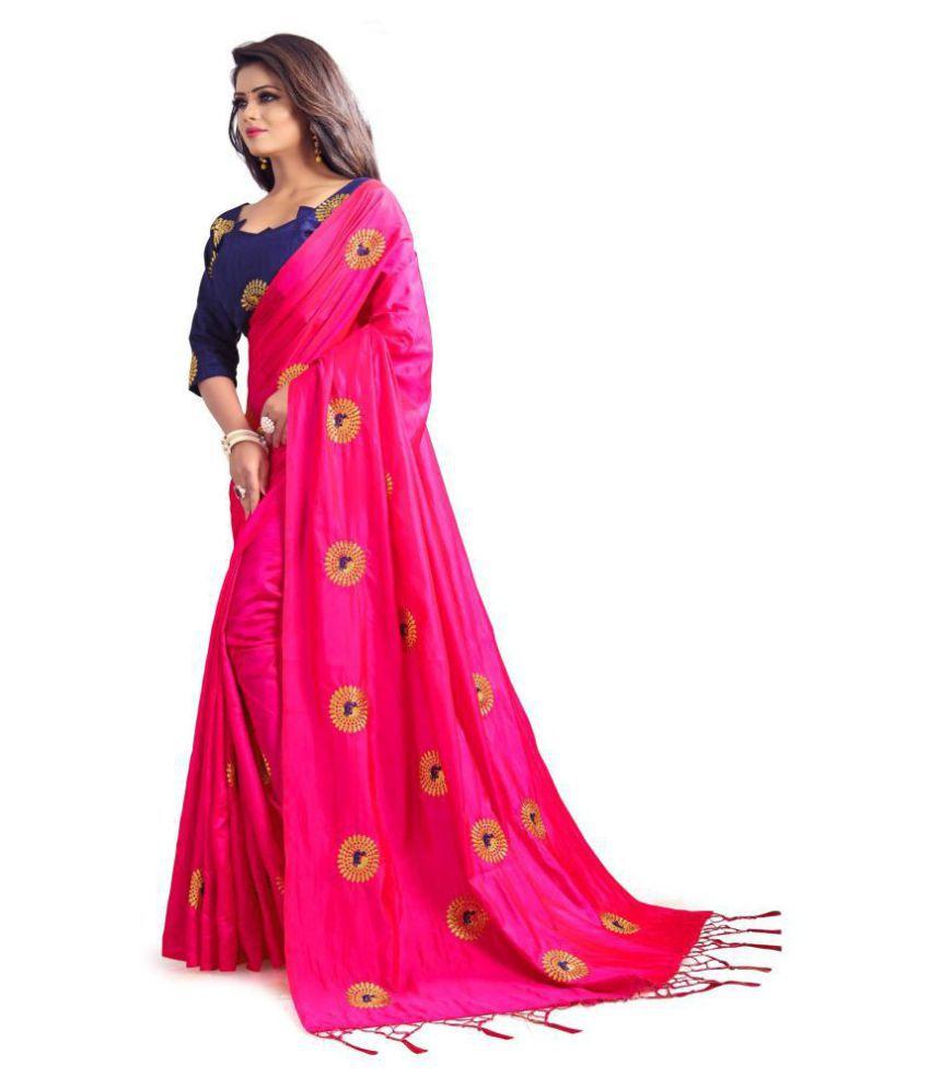 85f9f1236f530 Mastani Red and Pink Paper Silk Saree - Buy Mastani Red and Pink ...