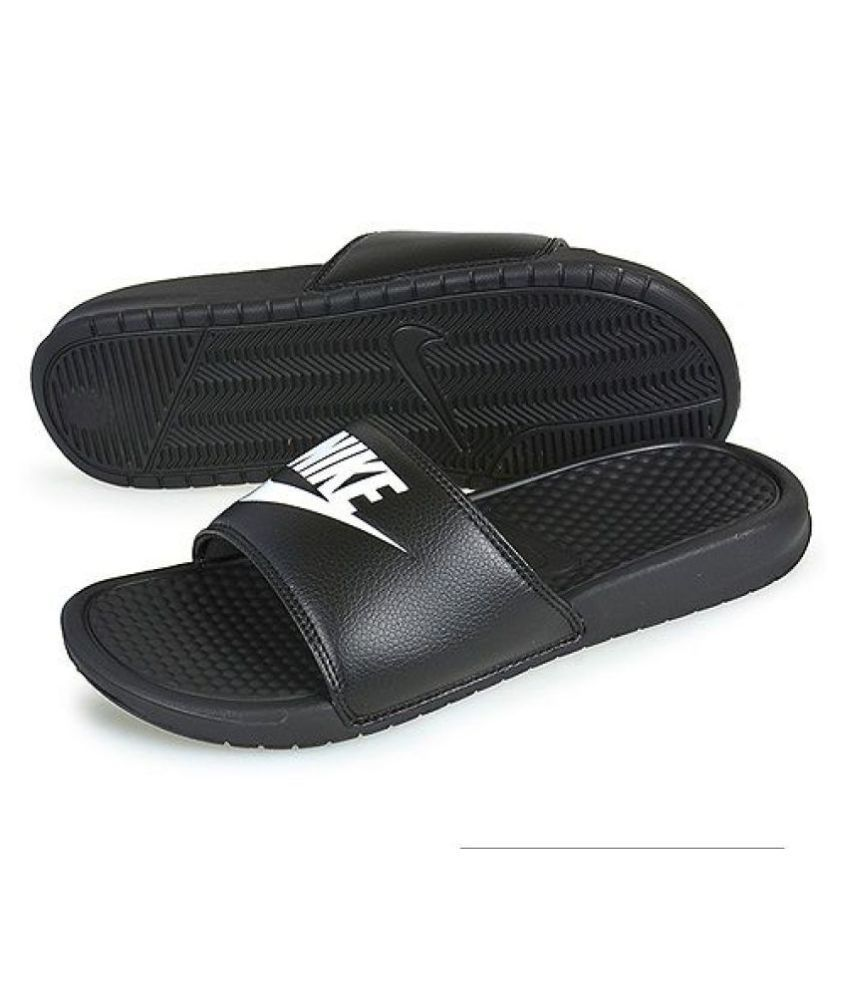 7ded13647 Nike Black Slide Flip flop Price in India- Buy Nike Black Slide Flip ...
