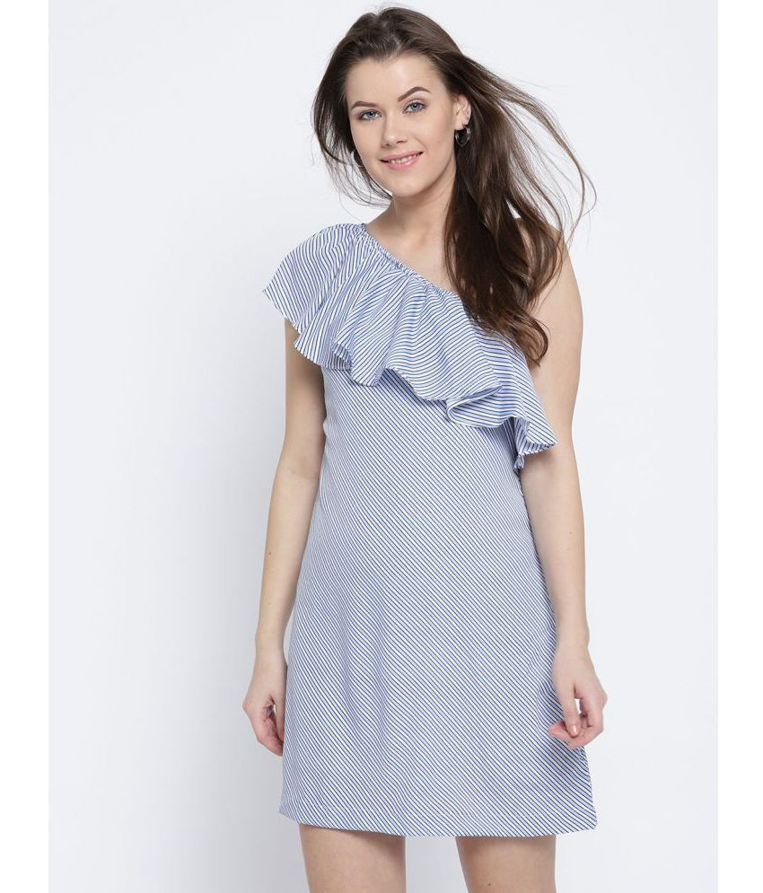 c9a3b055b2 Sera Polyester Blue Shift Dress - Buy Sera Polyester Blue Shift Dress Online  at Best Prices in India on Snapdeal