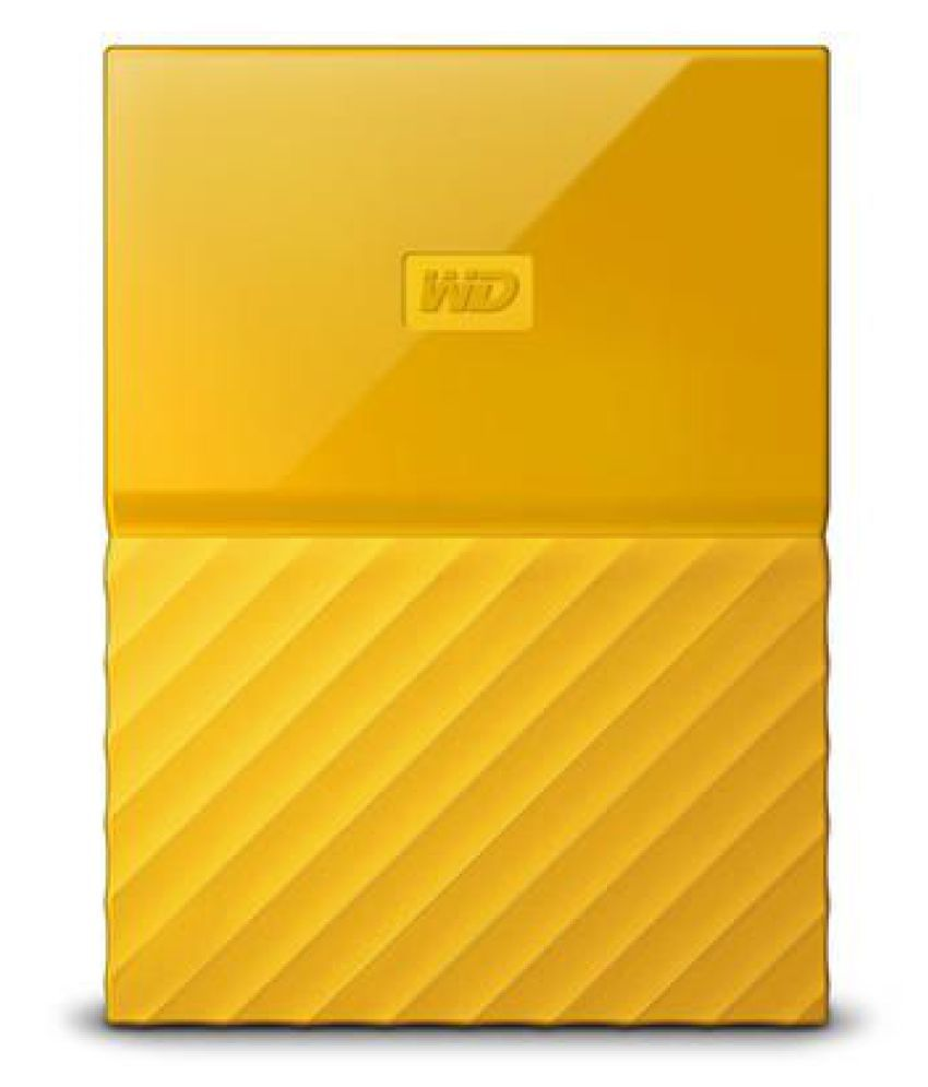WD My Passport 2 TB External Hard Drive (Yellow)