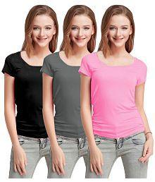 Fashion Line Cotton Lycra Multi Color T-Shirts