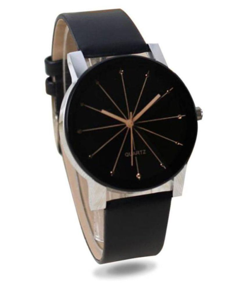 3 Nuts Crystal Leather Analog Men's Watch