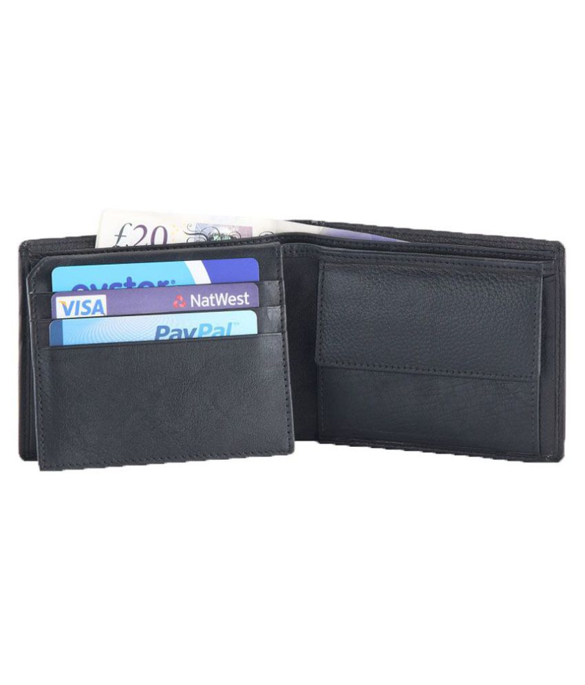 Hide&Sleek Leather Black Fashion Regular Wallet