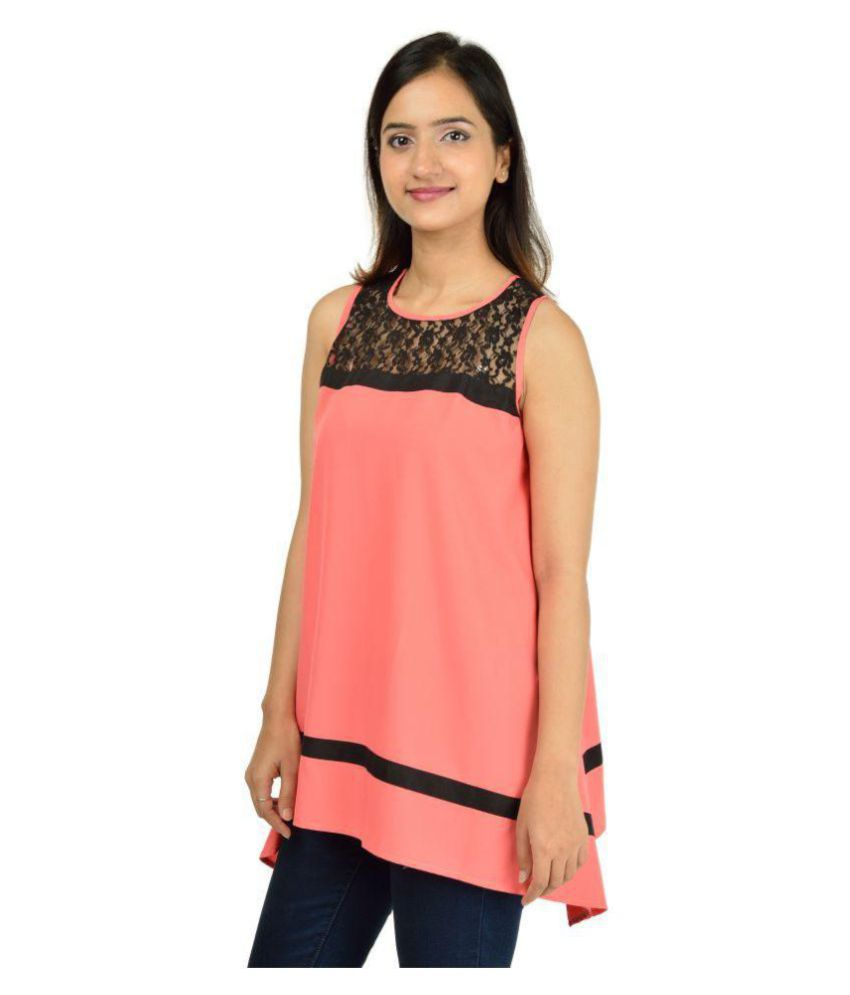 e7af7f41026b1 Timbre Poly Crepe Asymmetrical Tops - Peach - Buy Timbre Poly Crepe Asymmetrical  Tops - Peach Online at Best Prices in India on Snapdeal