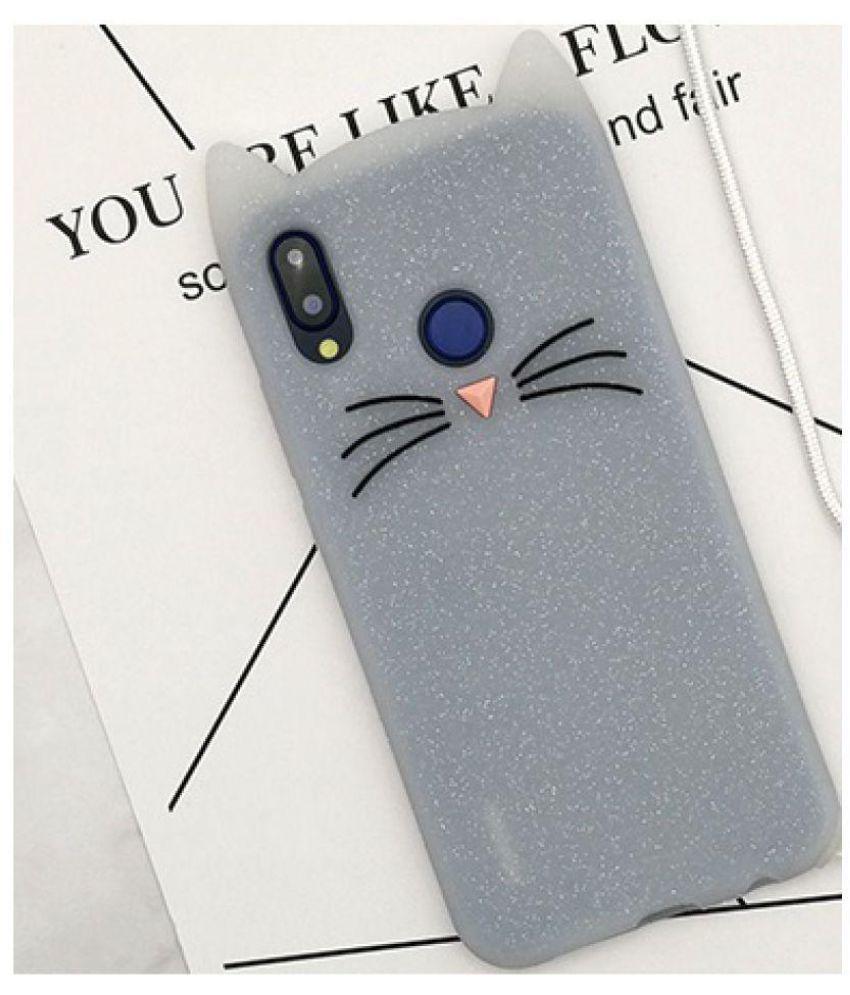 size 40 0d742 d66fc Xiaomi Redmi Note 5 Pro 3D Back Covers By O4U (Soft Silicon 3D Cat Case)