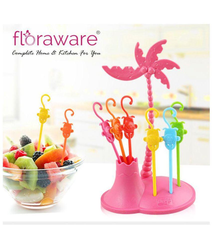 Floraware 6 Pcs Plastic Fruit Fork: Buy Online at Best ...
