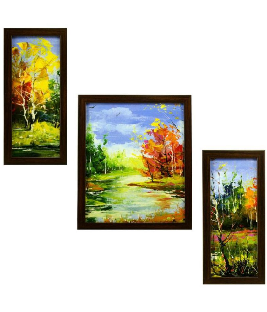 Indianara landscape MDF Painting With Frame