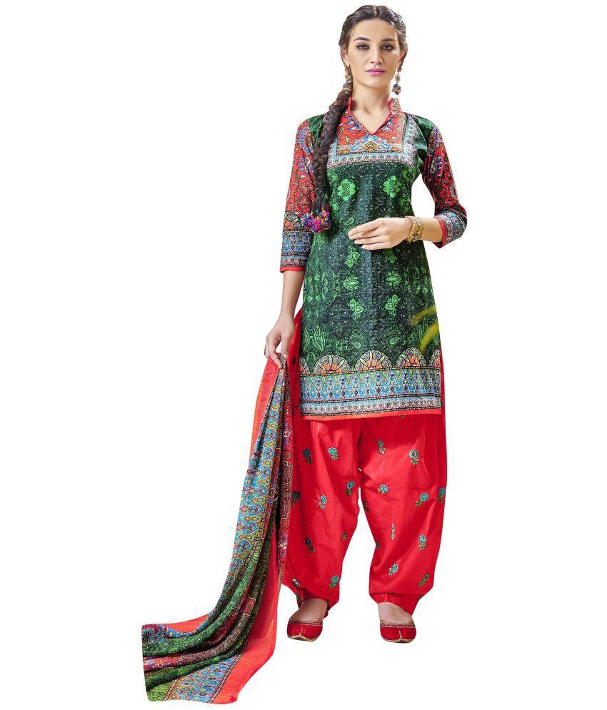 Areum Multicoloured Cotton Dress Material