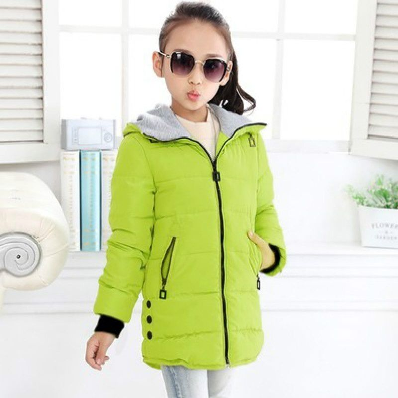 Changing Destiny Winter girls thick cotton jacket-Green-1Pcs