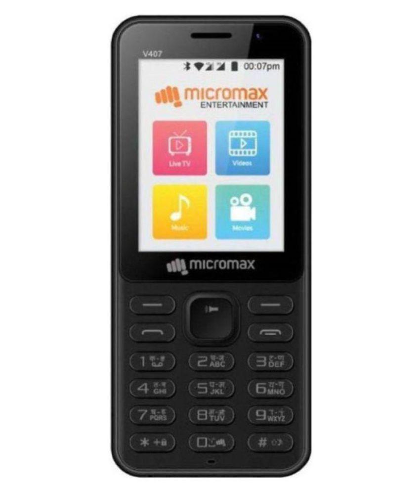 Micromax Bharat 1 V407  Black, 4G