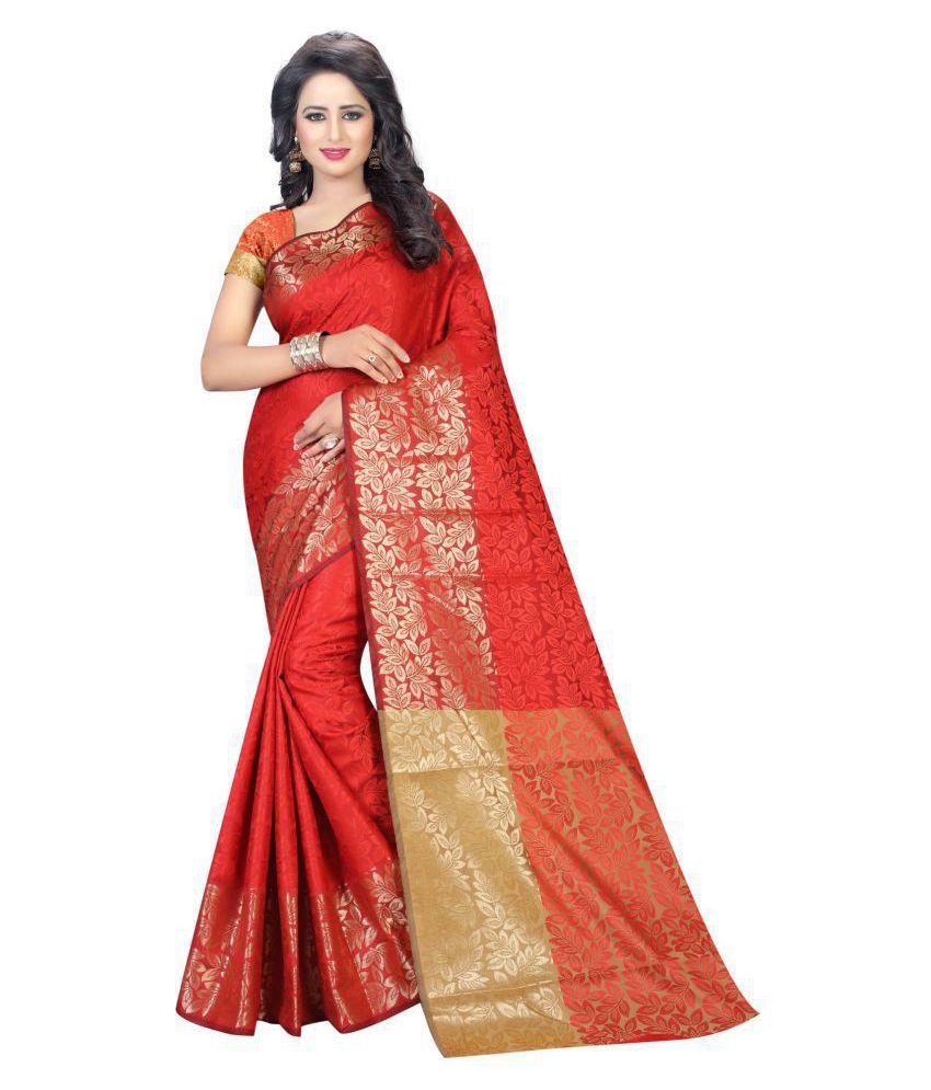 Karissa Red Banarasi Silk Saree